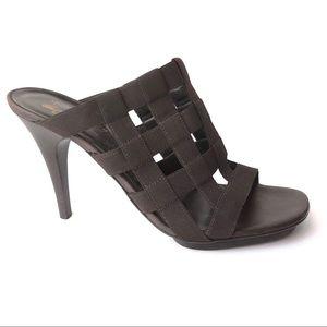 Donald Pliner brown lattice heels size 10.5